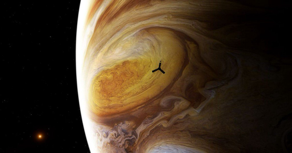 Check out the closest ever view of Jupiter's Great Red Spot https://t.co/giaaMQ3HCP https://t.co/b4uFPyiTh9