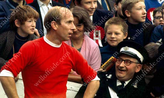 Happy Birthday Bobby. Our favourite pic of Bobby Charlton taken by Gerry Cranham at QPR in Oct 1968.