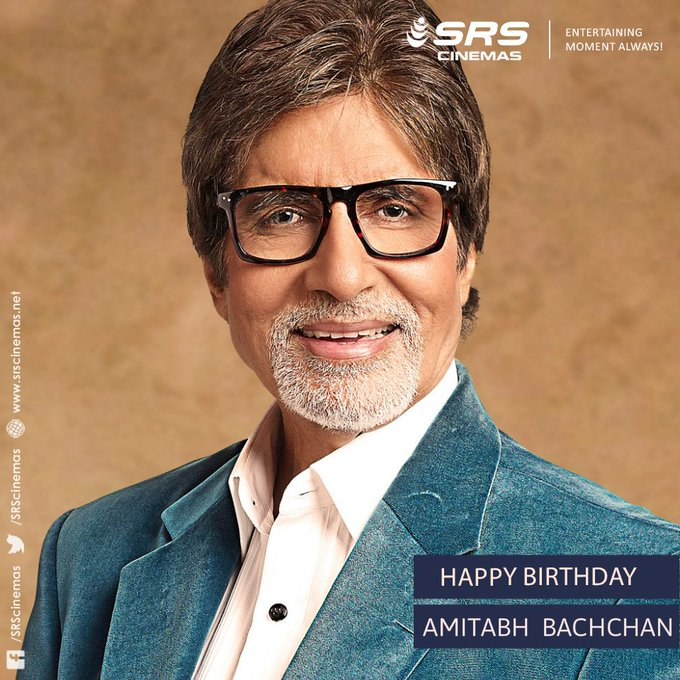 Wishing the legend, Amitabh Bachchan, a very happy 75th birthday!