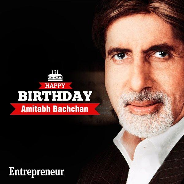 "Wishing a very Happy Birthday to the \""Shahenshah of  - Mr. Amitabh Bachchan"