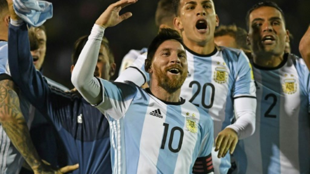 Messi hat-trick fires Argentina into World Cup
