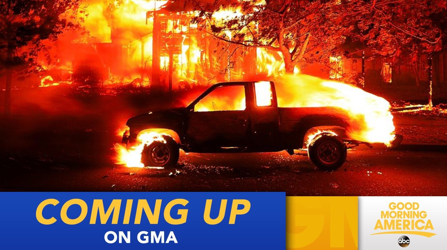 COMING UP ON @GMA: Thousands flee as wildfires ravage California; 17 killed https://t.co/T2L6X2lKLi