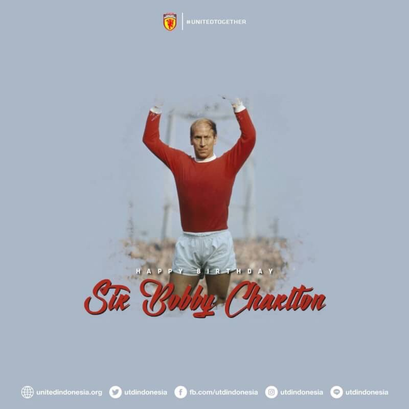 Happy birthday Sir Bobby Charlton! Wish you all the best from Yogyakarta, Indonesia