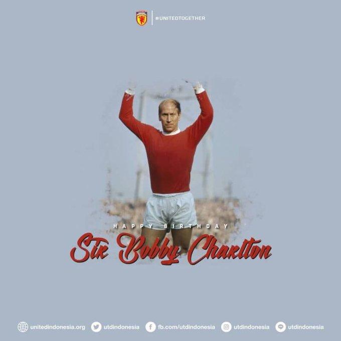 Happy birthday Sir Bobby Charlton! Wish you all the best from Yogyakarta, Indonesia