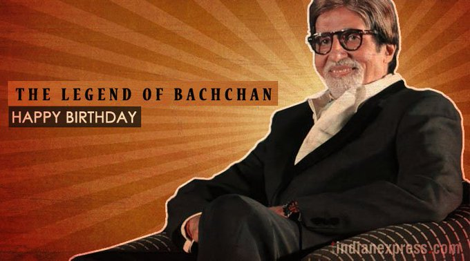 Happy birthday to lengendary actor amitabh bachchan sir