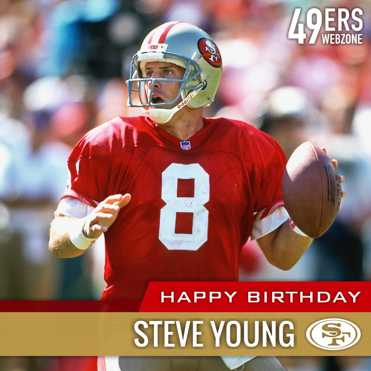 Happy birthday to Hall of Fame quarterback Steve Young!
