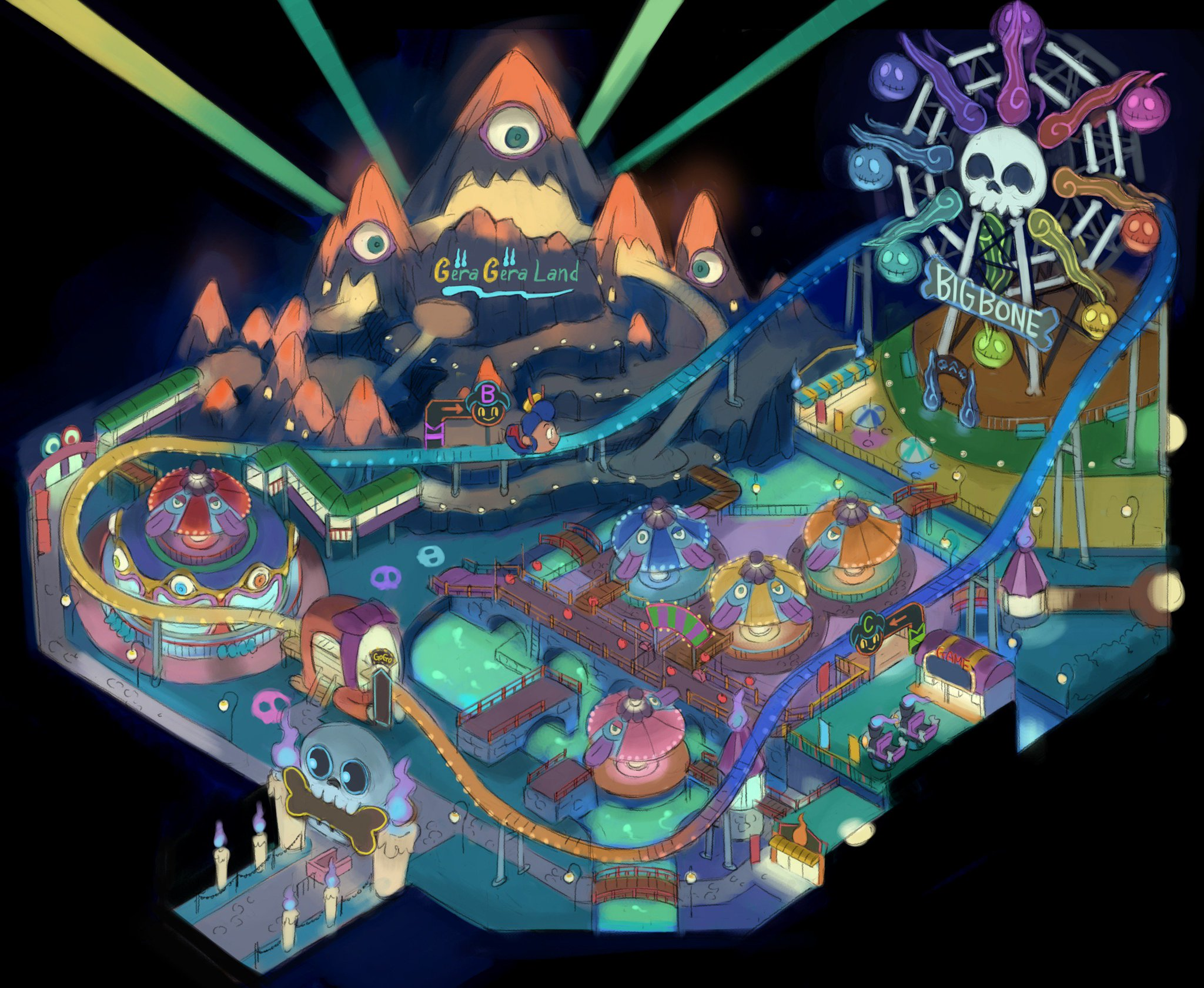 Some say that this strange new place is called the Gera Gera Resort and is where Yo-kai go to play! https://t.co/8bHvdRd2Bl