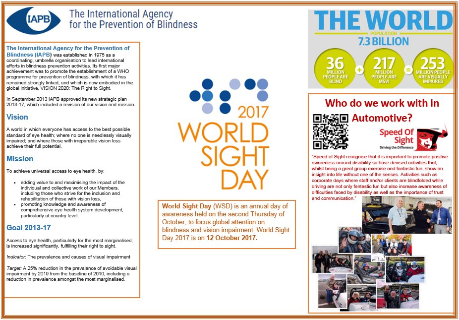 RT @SCCAutoEng: Spreading the awareness of #worldsightday with our learners! https://t.co/gIb4nf4OeL