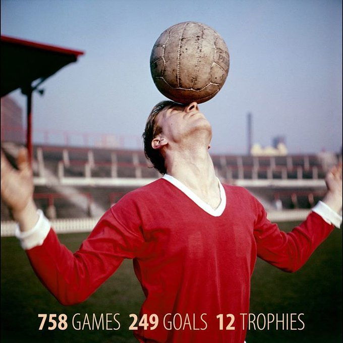 Happy 80th birthday, Sir Bobby Charlton!  758 games 249 goals  12 trophies