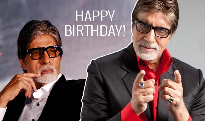 Happy birthday 75 Years for the legend to the best Bollywood actor Amitabh Bachchan