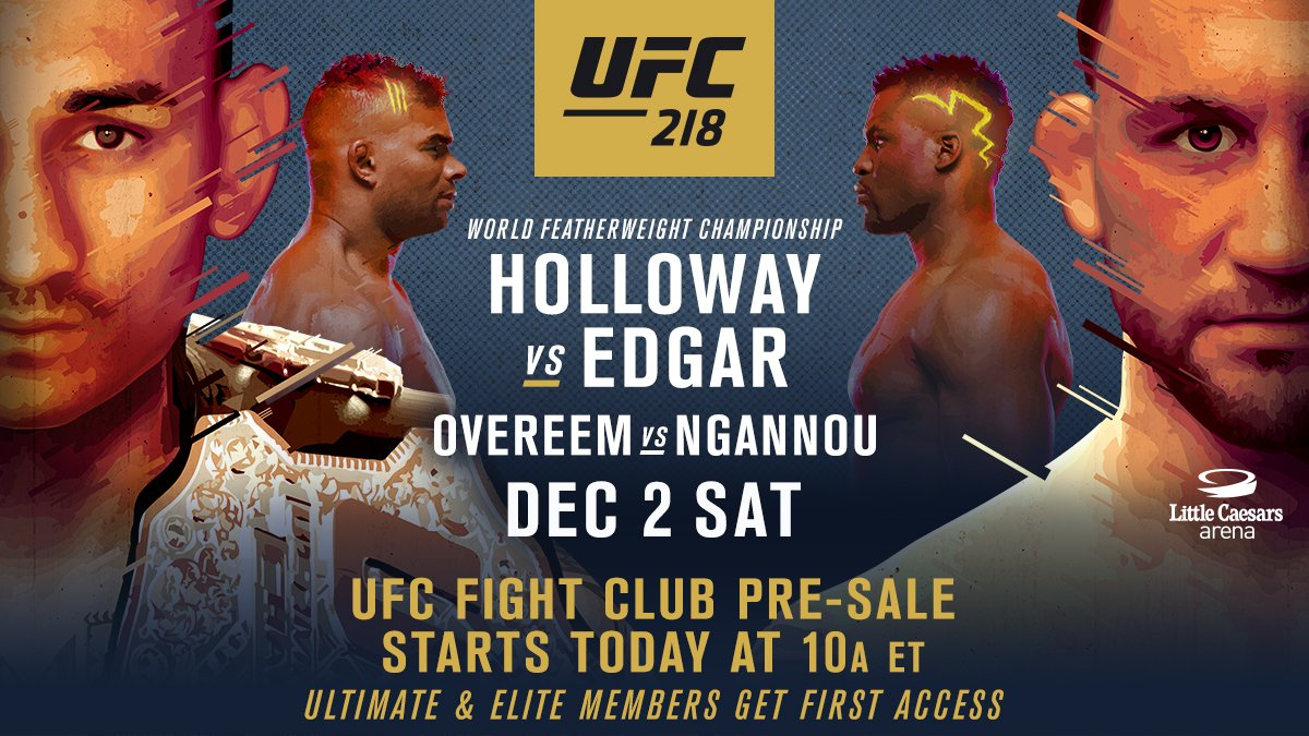 FIGHT CLUB!!!  #UFC218 tix are on sale NOW for MEMBERS ONLY  �� https://t.co/0xeHVPfnMw https://t.co/eWTn0qUJ8R