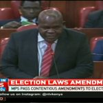 MPs pass contentious amendments to Electoral Laws