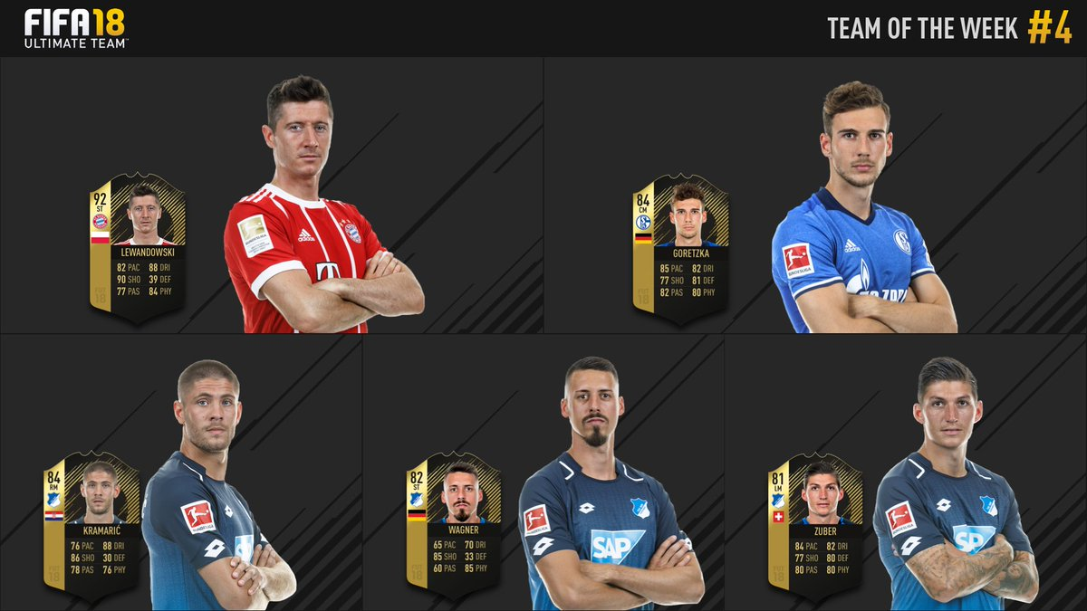 RT @Bundesliga_EN: A big (and well-deserved) #Bundesliga presence in this week's @EASPORTSFIFA #TOTW 💪 https://t.co/k5s5pmWC8t