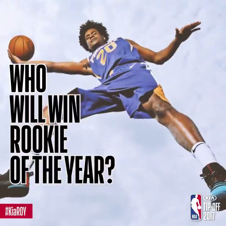 As the 2017-18 NBA season approaches... who is your preseason pick for #KiaROY? https://t.co/3XS6yzvRv9