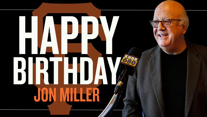 Happy Birthday to Hall of Famer, Jon Miller!