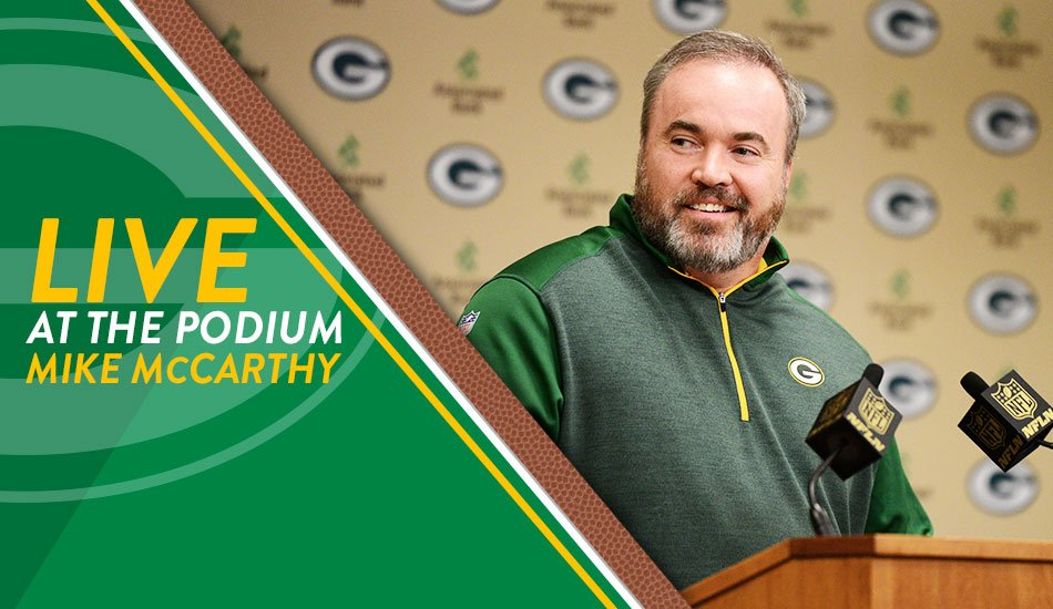 Coach McCarthy will be meeting with the media shortly at Lambeau Field.  ����: https://t.co/qTd51TWeIP https://t.co/CB8fMaHVej
