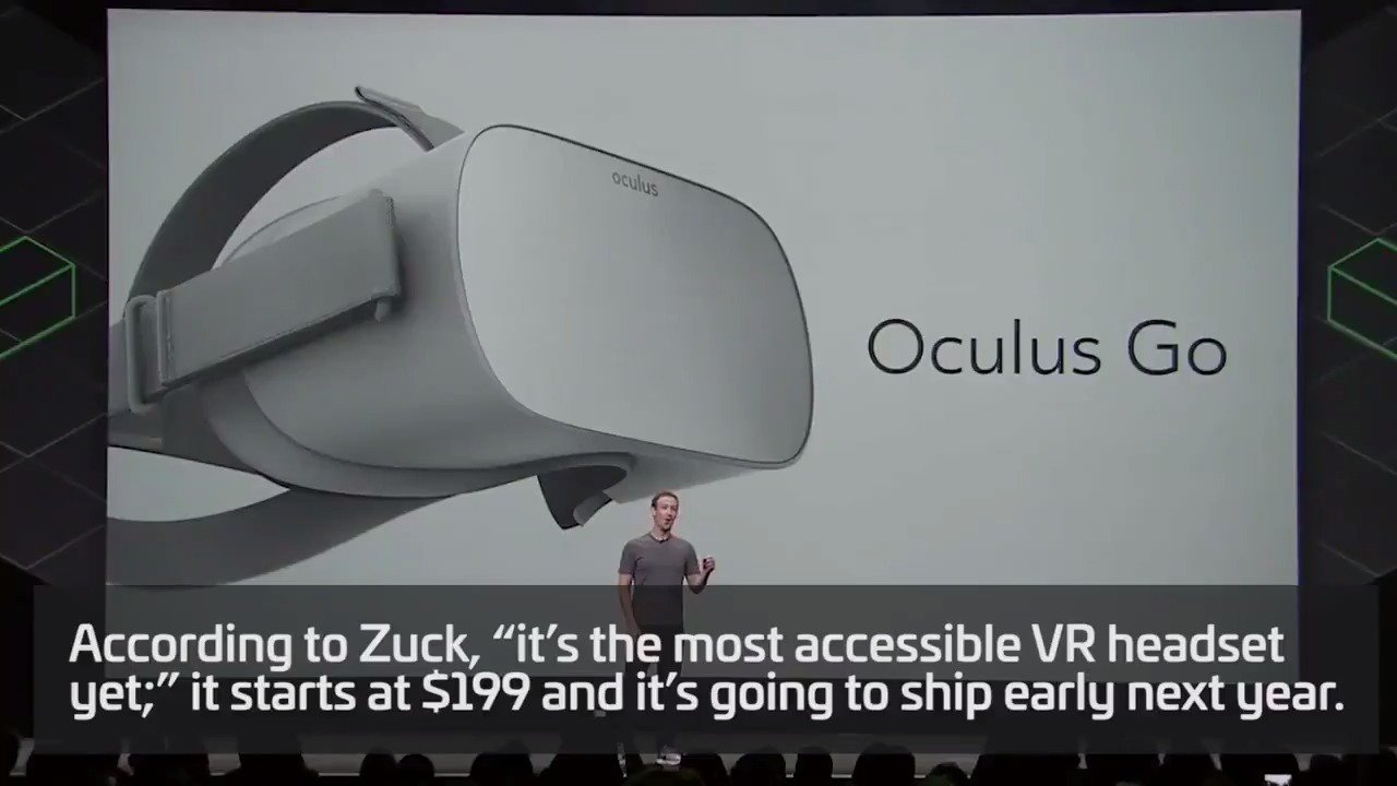 Oculus​ announces $199 'Oculus Go' standalone headset https://t.co/pSQV2kMfAg https://t.co/NoCCNikdW5