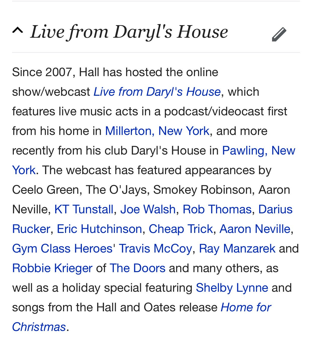 Happy 71st birthday Daryl Hall. We ve not heard it but his podcast sounds like an absolute atrocity