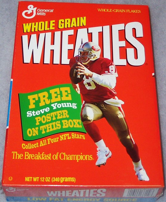 1989 Steve Young box. Happy Birthday wishes go out to the HOF\er who turns 56 years old today!