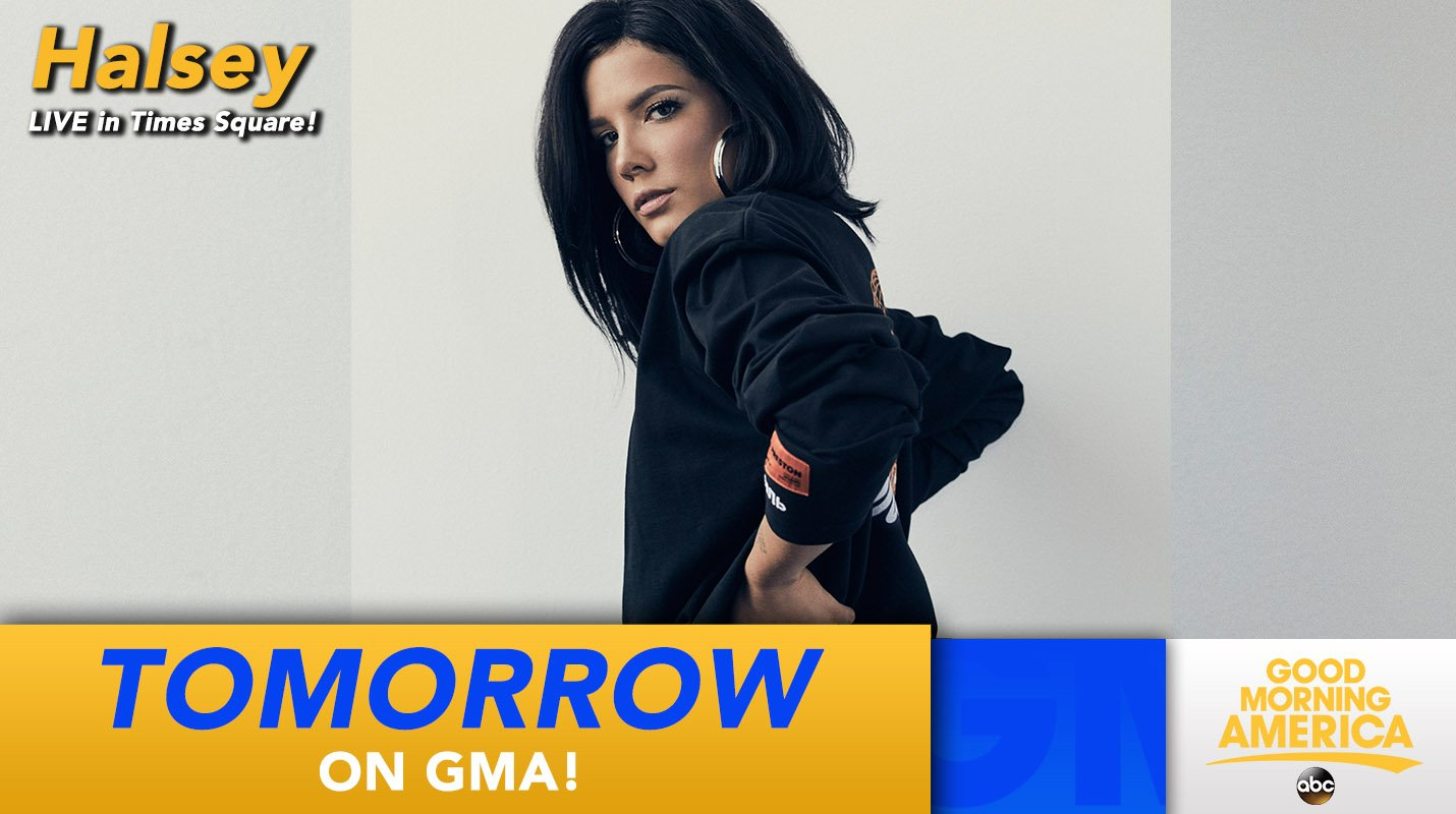 TOMORROW: @halsey performs LIVE in Times Square! https://t.co/Zbuof0Cn0k