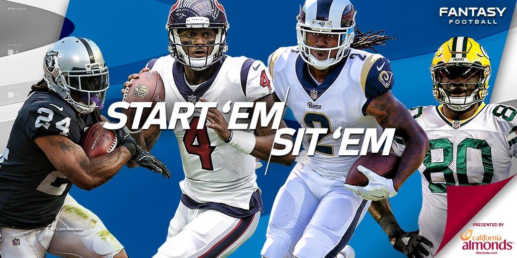 START: Deshaun Watson SIT: Sammy Watkins  Start 'Em/Sit 'Em Week 6: https://t.co/gfaLkGkJtX (via @Michael_Fabiano) https://t.co/oquyXcZF0N