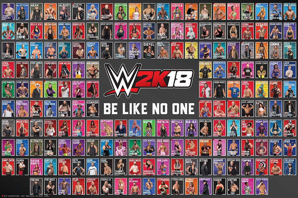 #ICYMI - @2K Releases the @WWE Roster Poster For @WWEGames #WWE2K18 https://t.co/RFd8Z8l9yq …  #TheBigReveal https://t.co/pfelGzJA7b
