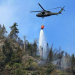 White Mountains forest fire still burning a week later