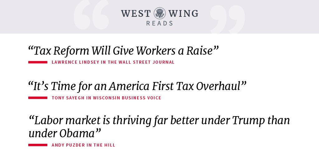 Take a look at today's West Wing Reads: https://t.co/Wv7DmHuHxj https://t.co/hgiakF6SGi