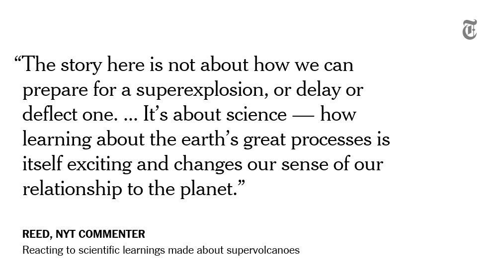 One NYT reader's reaction to the scientific learnings made about supervolcanoes https://t.co/HS0X88bPyp https://t.co/bl09HWnJ5S