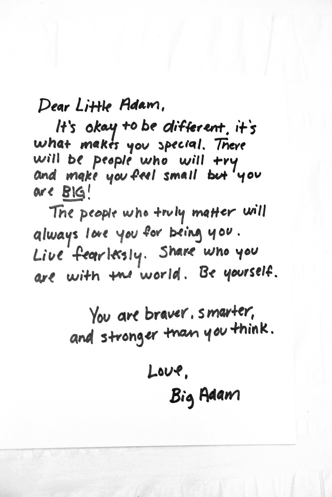 Dear Little Adam #nationalcomingoutday ��️�� https://t.co/d9LUZq2TyT