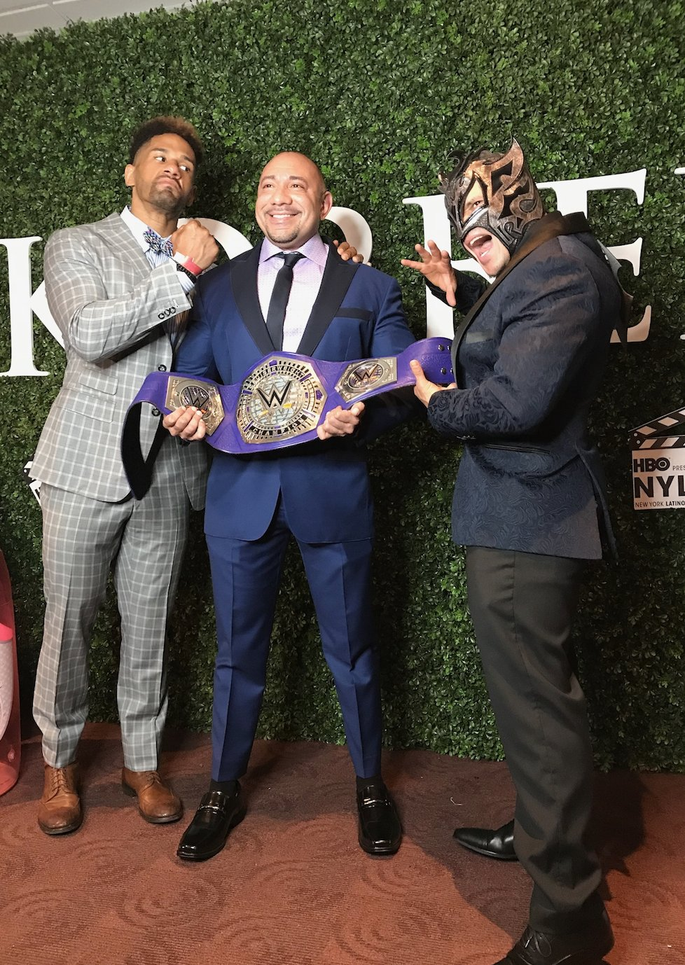 ".@DarrenYoungWWE & @KalistoWWE hit the #NYLFF red carpet for the showing of ""Saturday Church!"" https://t.co/OXvY9W1Gvq"