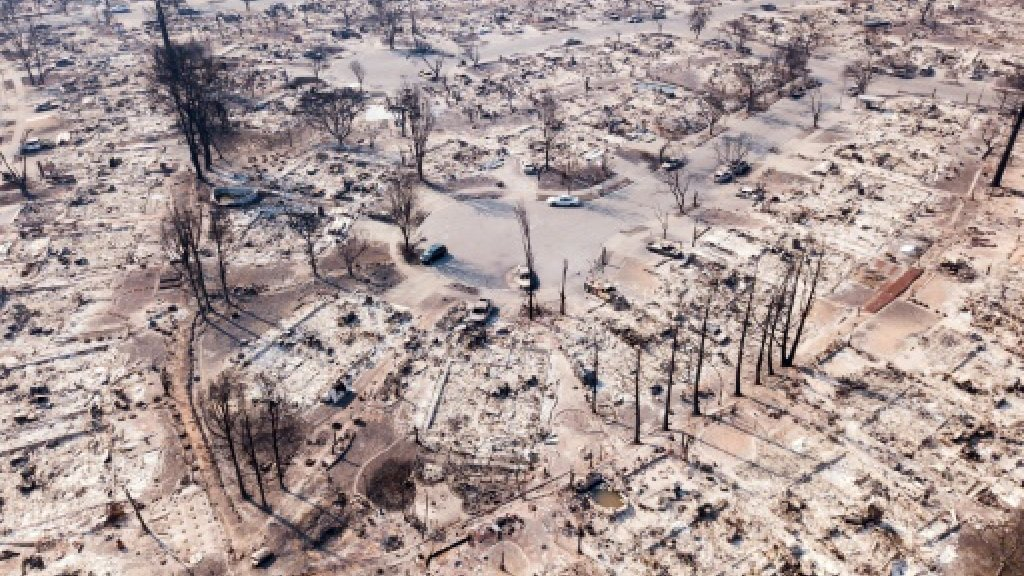 Mourning loss as California fires rages on