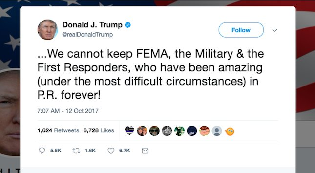 JUST IN: Trump threatens to pull FEMA out of Puerto Rico as 90% remain without power https://t.co/17R3SWOydk https://t.co/GTFsHwp6Mw