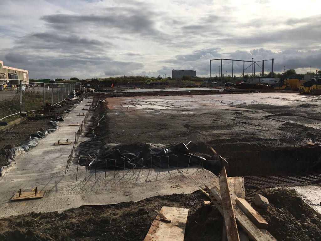 test Twitter Media - The steels continue to go in today In the foreground- check out the strip foundations. https://t.co/4fc5tgO3wY