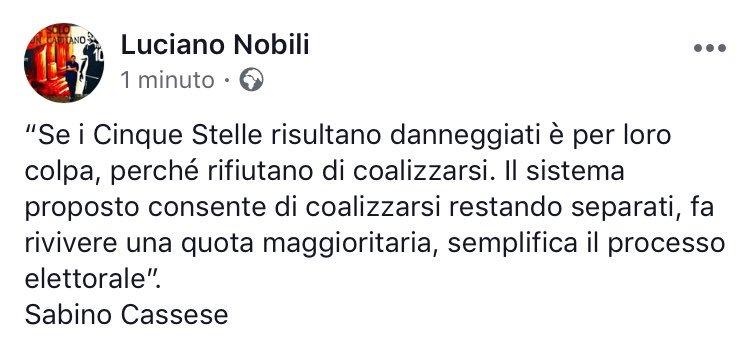 RT @lucianonobili: Amen. #Rosatellum #LeggeElettolare https://t.co/Tq0nC4QDQz