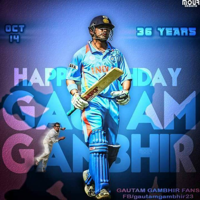 Happy birthday Gautam Gambhir Many many returns of the day