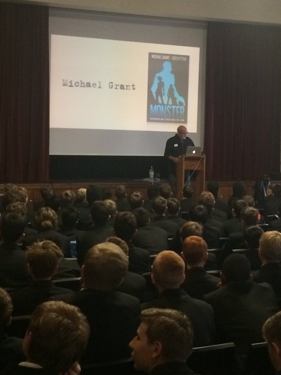 test Twitter Media - Pleased to host world famous author Michael Grant today with visitors from WGS, Dedworth, Trevelyan and Slough & Eton Schools. 'Evil Genius' https://t.co/5jKlJS20AB