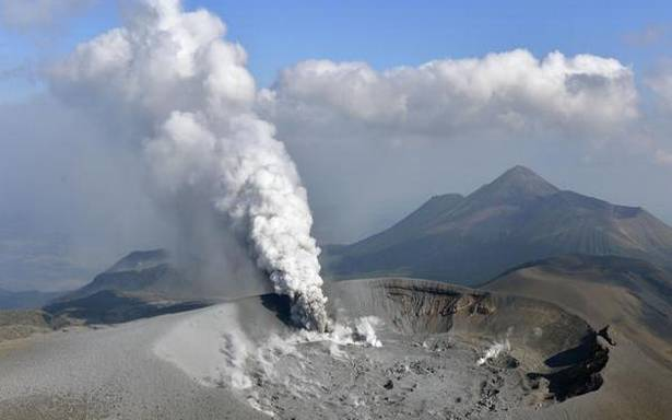 Volcanic eruption in Japan spreads ash in four cities, towns