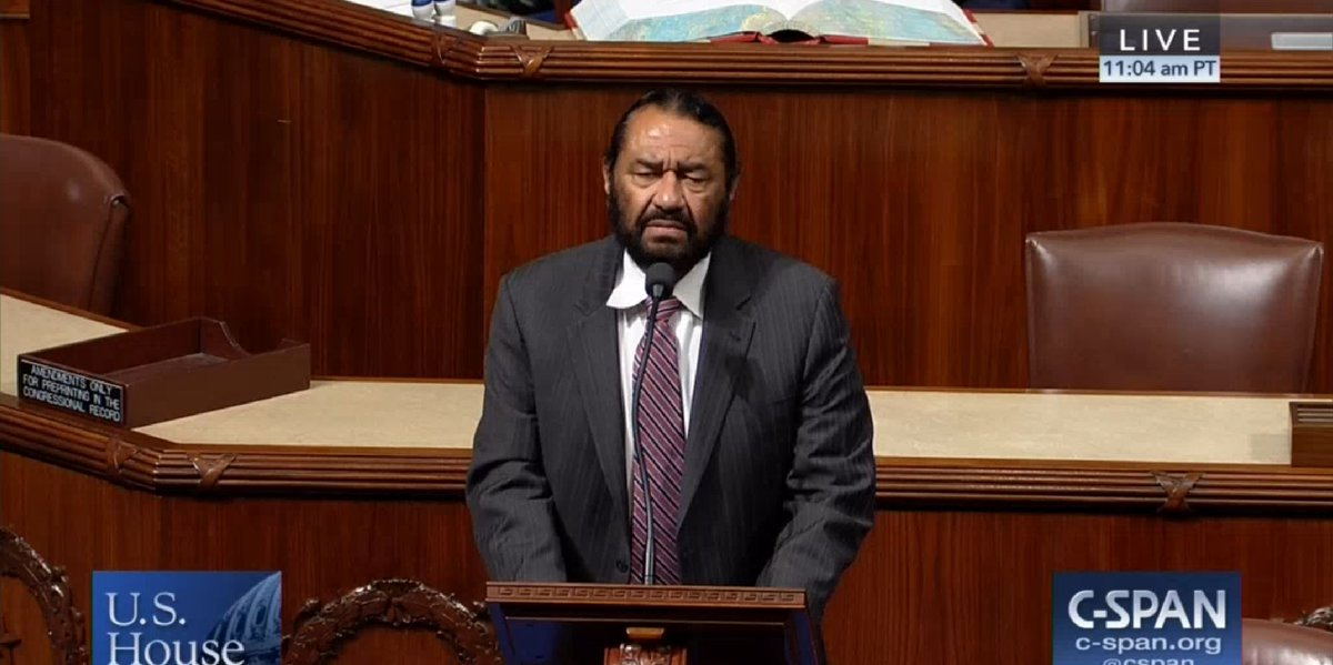 House Democrat Al Green is not giving up on Trump impeachment vote