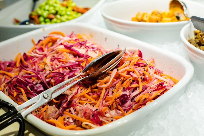 Get the coming weekend off to a healthy start! Try some of our colourful #salad creations such as this Asian Slaw.