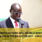 October elections will be held whether Raila is in the ballot or not - Kiraitu