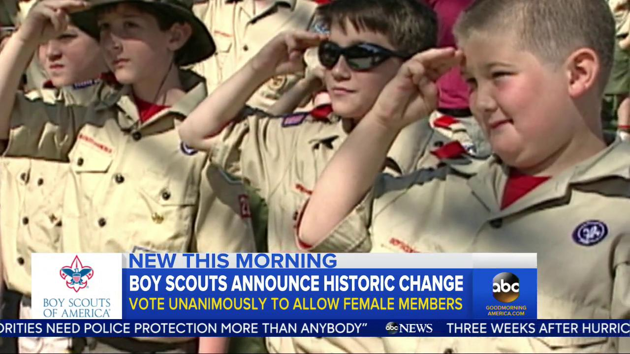 WATCH: Boy Scouts announce historic change; vote unanimously to allow female members: https://t.co/jGJ0mfxdGD https://t.co/M7LQAHLIpk