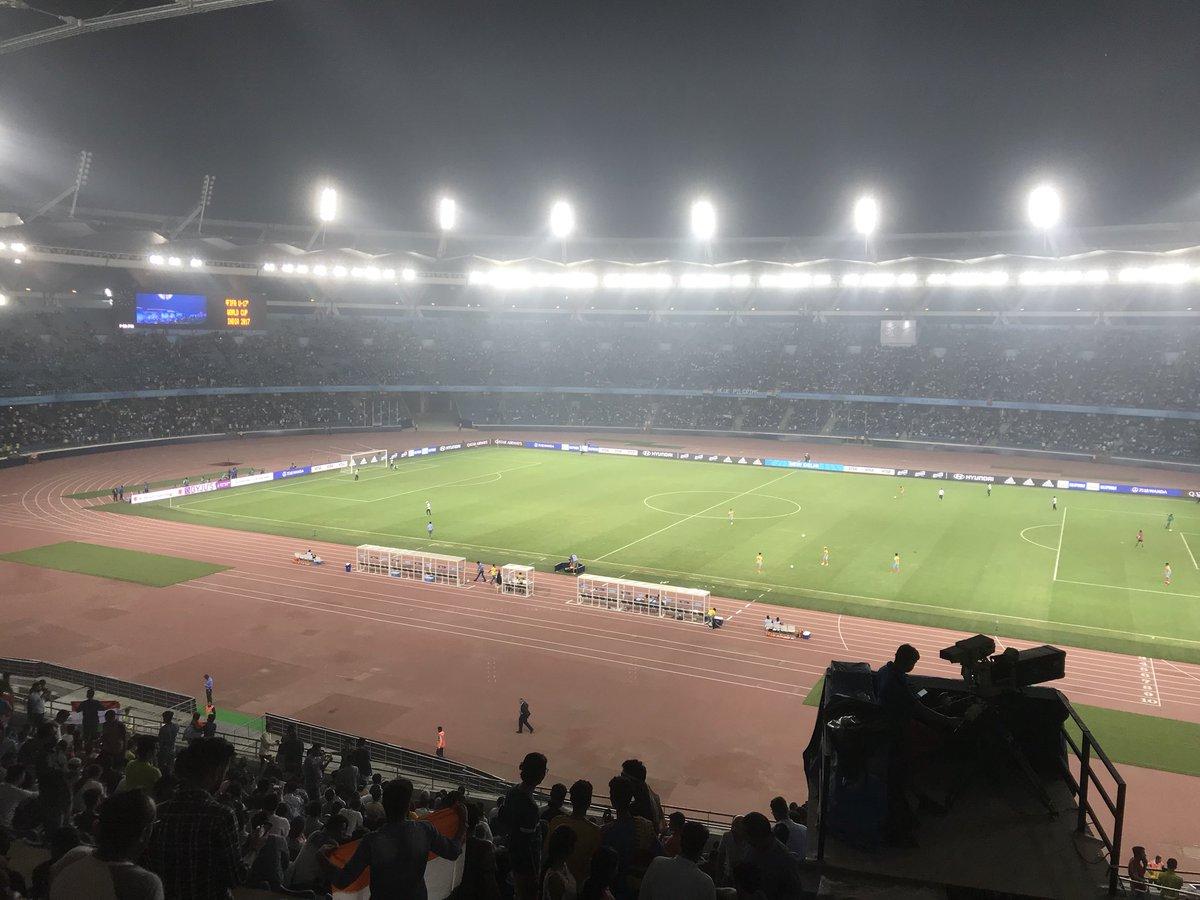 Packed house stadium for football in india ! We already won the match ! #GHAvIND https://t.co/ACgKQVrPNa