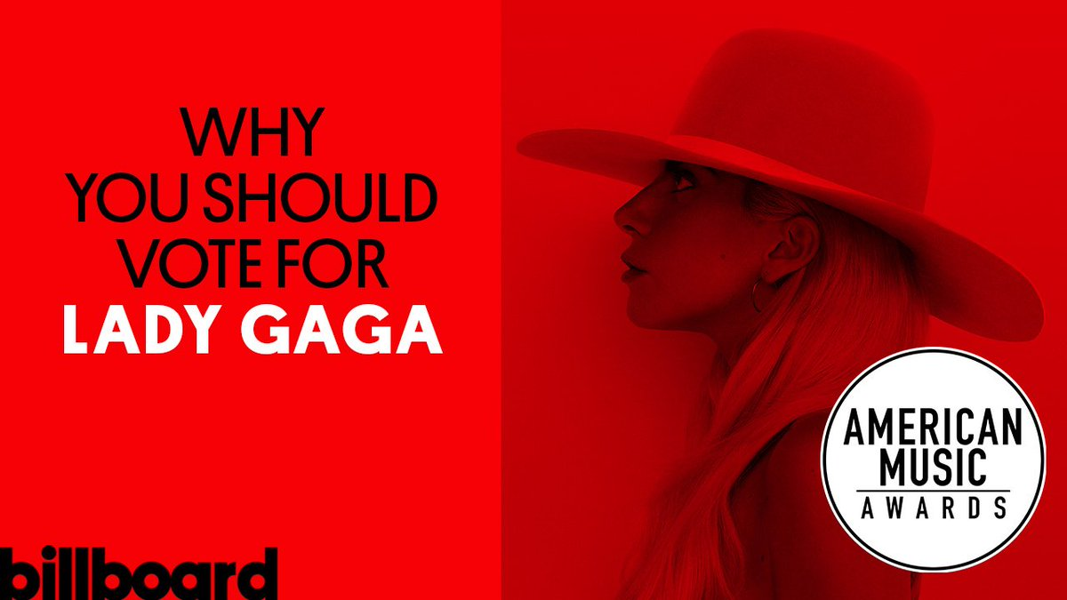.@LadyGaga has been nominated for Favorite Female Artist! #AMAs