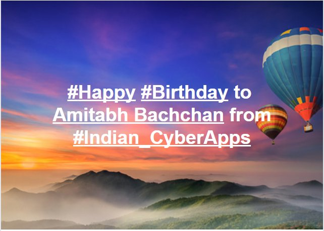 to Amitabh Bachchan from