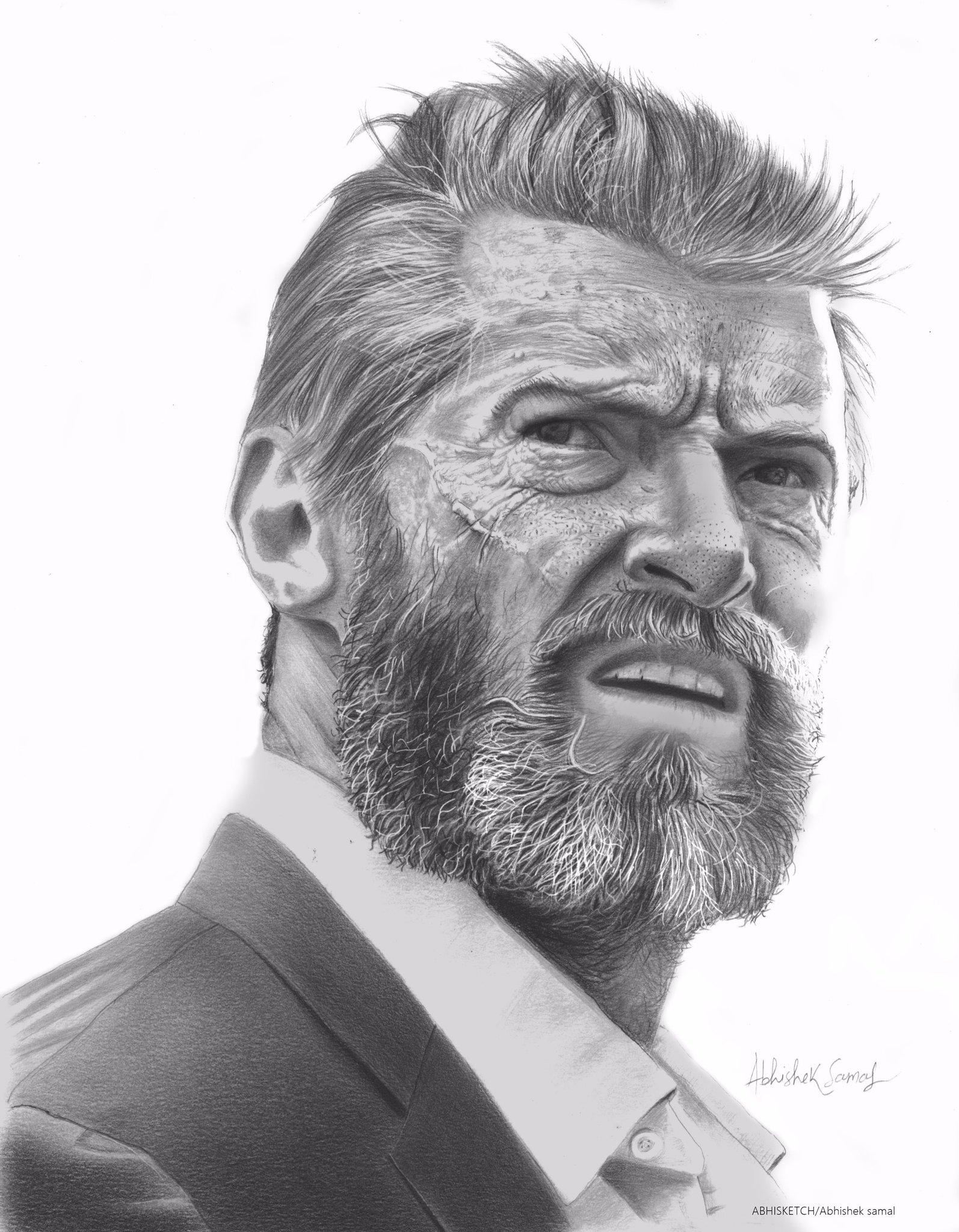 Happy Birthday to hugh jackman  This pencil art dedicated 2 u.. i hope u like this..