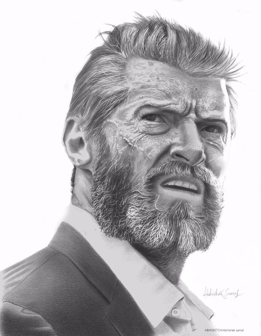 Happy Birthday to hugh jackman  This pencil art dedicated 2 u.. i hope u like this..