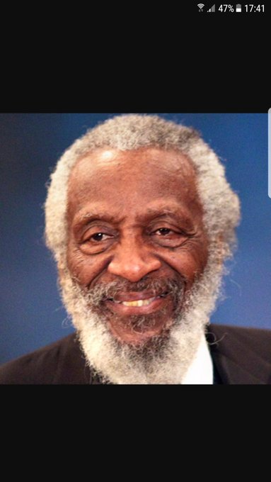 Happy birthday and RIP to the great Dick Gregory. Comedian and civil rights activist