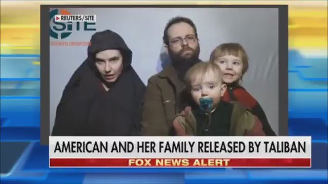 FOX NEWS ALERT American woman, Caitlin Coleman, freed from Taliban faction after 4 years in captivity