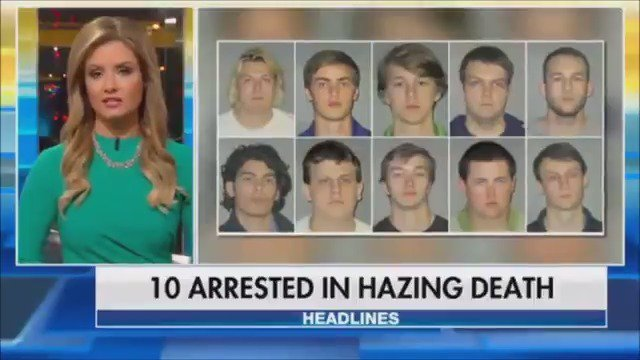 10 college students in police custody accused in hazing death of another student https://t.co/jWLyq3BzJI